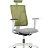 Ergonominė kėdė 4ME white yra šiuolaikinio dizaino, kokybiško audinio ar tankaus tinklelio.