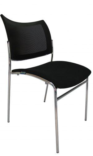 Lankytojo kėdė 4wait yra su chromuotu metaliniu rėmu.