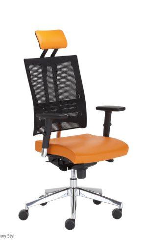 Ergonominė kėdė @-Motion R15K HRU steel 33 chrome su tinklelio atlošu.