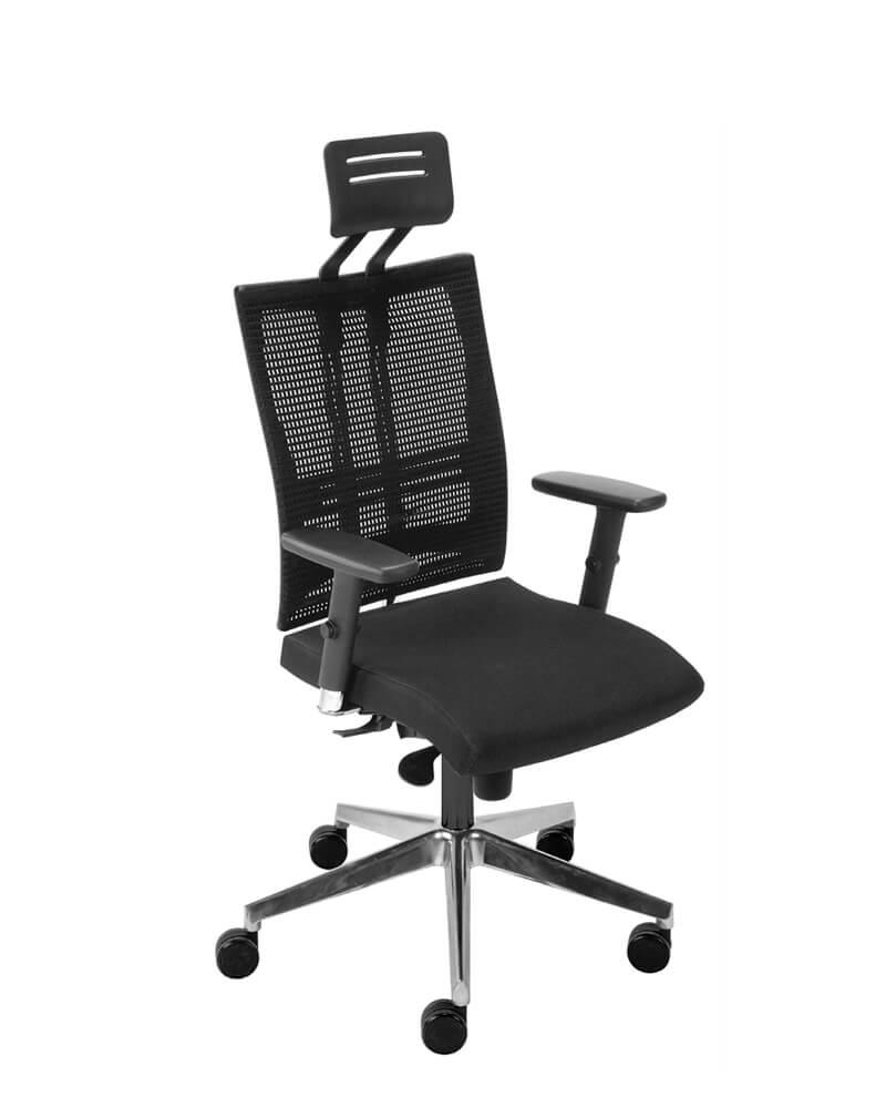Ergonominė kėdė @-Motion R15K HR steel 33 chrome su tinklelio atlošu.