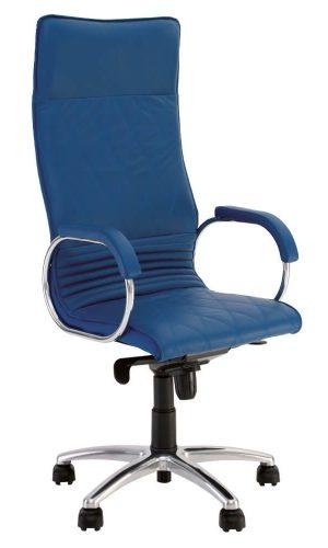 Vadovo kėdė Allegro steel chrome su stabiliais porankiais.