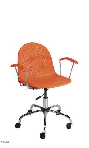 Darbuotojų kėdė Amigo GTP chrome su atlošu ir sėdyne iš plastiko.