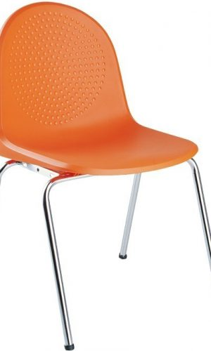 Konferencinė kėdė Amigo chrome iš plastiko.