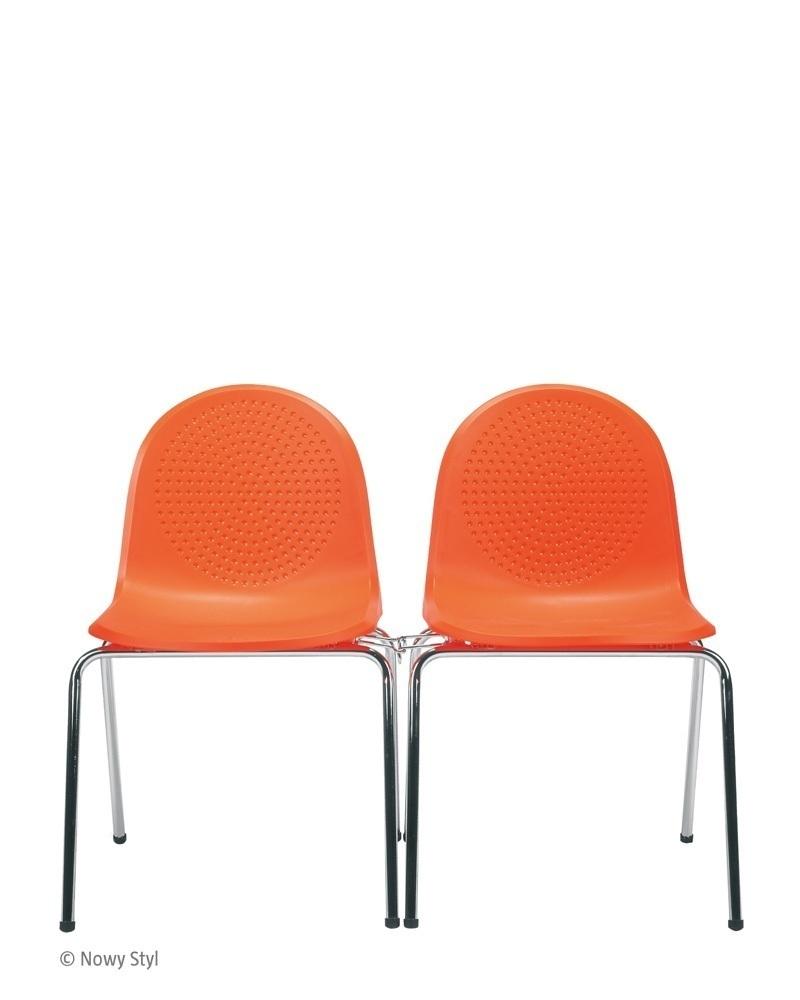 Lankytojų kėdė Amigo click chrome metaliniu rėmu.
