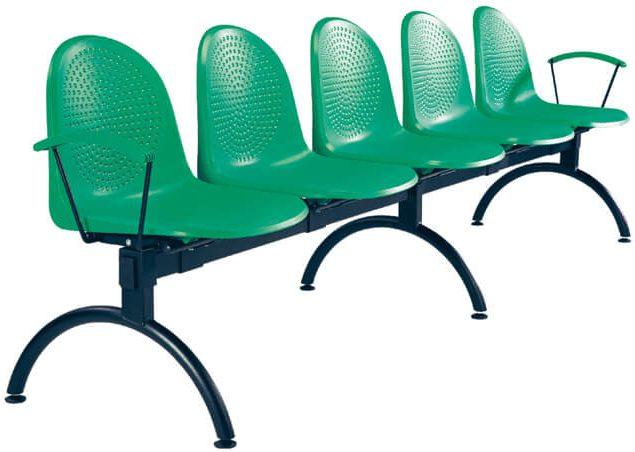 Lankytojų kėdė Amigo arm-5 alu skirta sėdėti penkiems žmonėms.