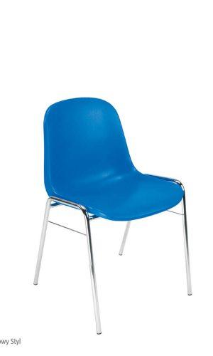 Lankytojų kėdė Beta chrome yra su plastikine sėdyne ir atlošu,