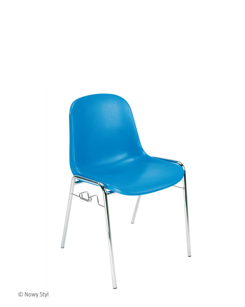 Plastikinė konferencinė kėdė Beta click chrome.