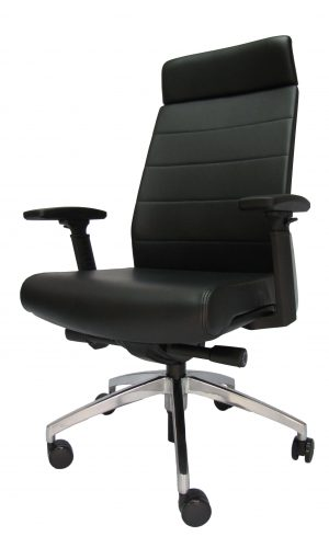 Ergonominė kėdė Borgholm HB su eko odos atlošu ir sėdyne.