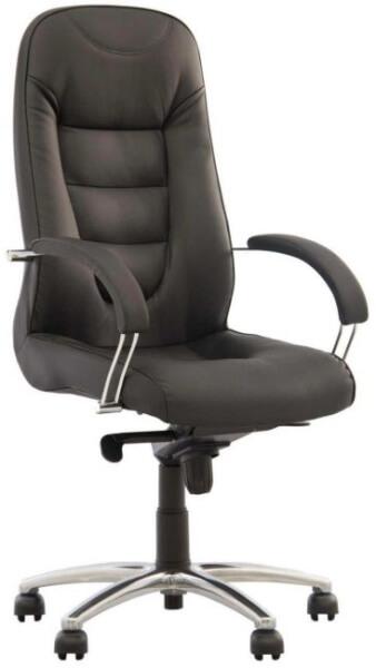 Biuro kėdė Boston steel chrome su eko odos atlošu ir sėdyne.