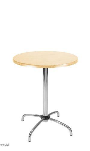 Virtuvinis stalas Cafe TOP50 su mediniu stalviršiu.