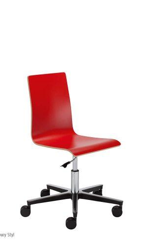 Konferencinė kėdė Cafe VII gts steel 23 chrome su atlošu ir sėdyne iš faneros