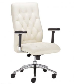 Ergonominė kėdė CHESTER R23P2 steel 28 chrome su natūralios odos atlošu ir sėdyne.