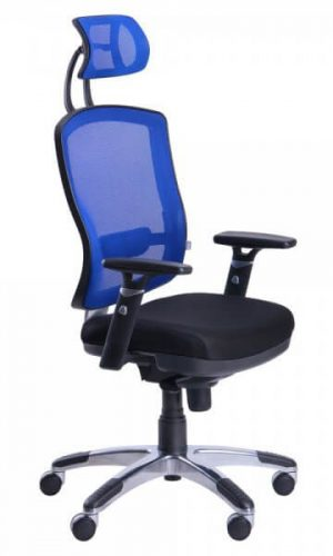 Ergonominė kėdė Connect HR alu su tinklelio atlošu.