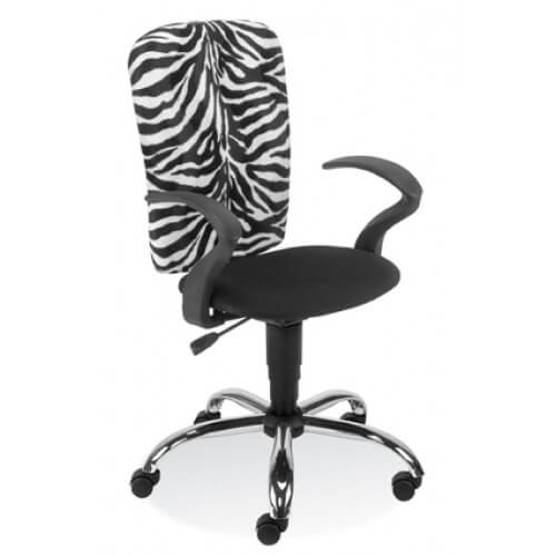 Biuro kėdė Ergoraider GTP steel chrome su gobelenu aptrauktais atlošu ir sėdyne.