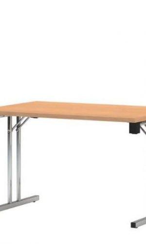 Tvirtas sudedamas stalas Eryk 120x80 cm su stalviršiu iš drožlių plokštės.