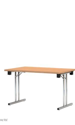 Tvirtas sudedamas stalas Eryk 120x80 cm su stalviršiu iš drožlių plokštės