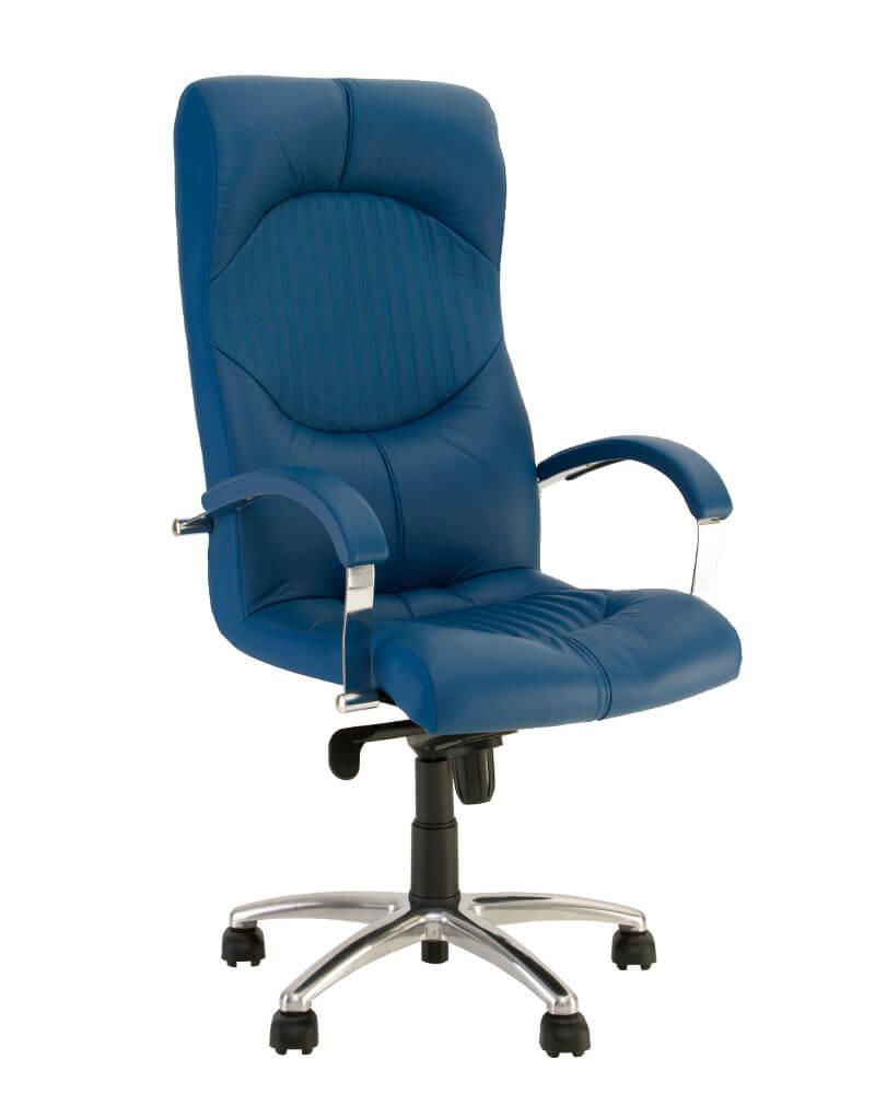 Vadovo kėdė Germes steel chrome su stabiliais porankiais.