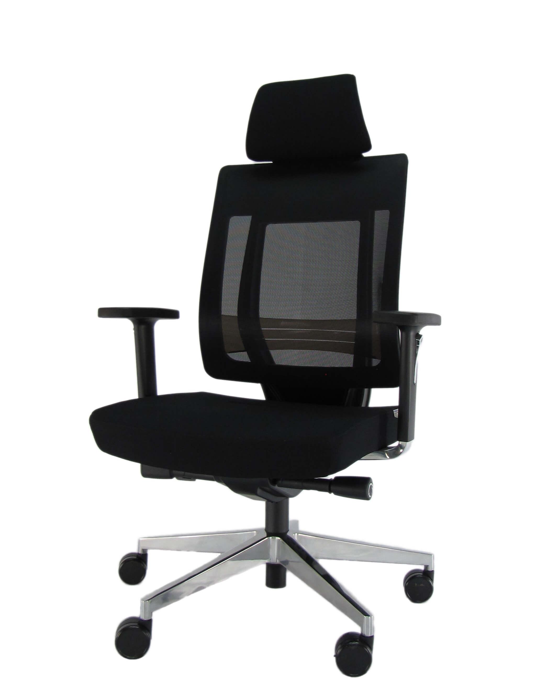 Ergonominė kėdė Genius HRU su galvos bei nugaros atrama,tvirto tinkliuko atlošu.