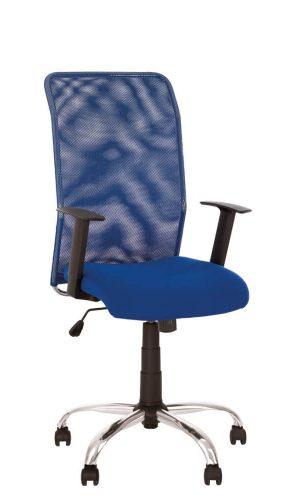 Biuro kėdė Inter Net GTR Steel Chrome su tinklelio atlošu.