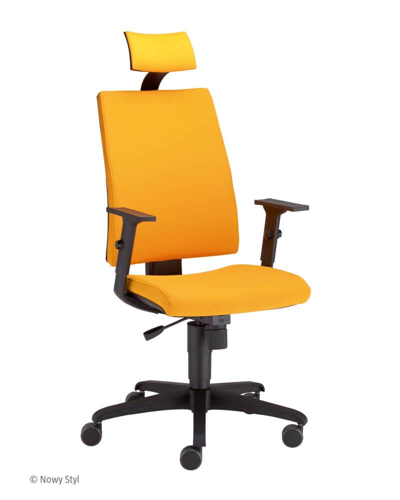 Ergonominė kėdė Intrata O-12-HRU-R20N-AN su gobelenu apmuštais atlošu ir sėdyne.