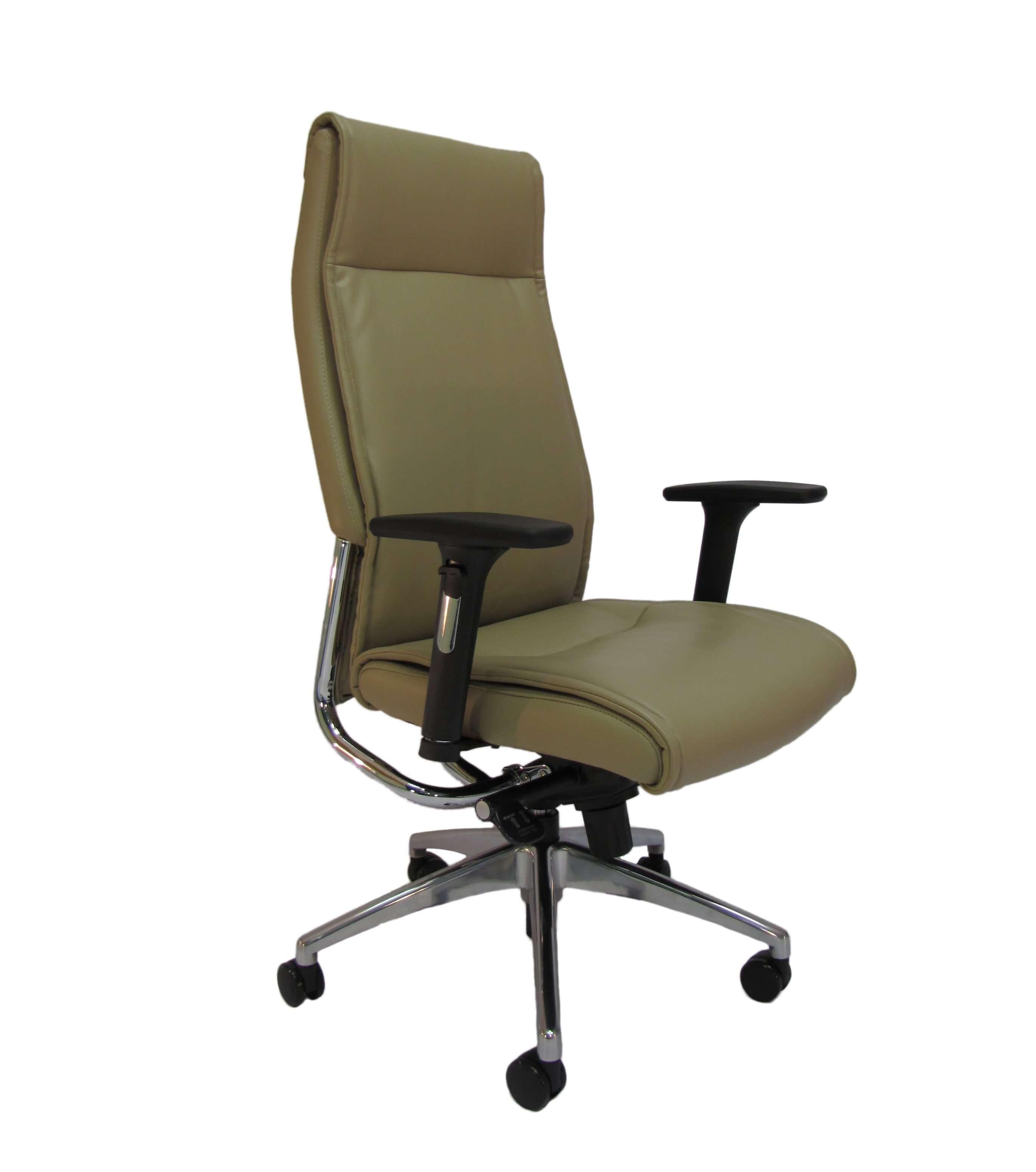 Natūralios odos ergonominė kėdė Jersey HB su atrama galvai.