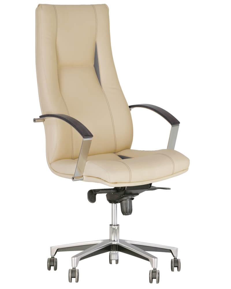 Vadovo kėdė King steel chrome su poliruoto aliuminio pagrindu.