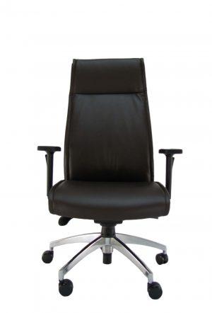 Aukšto atlošo ergonominė kėdė Landsort HB su eko odos atlošu ir sėdyne.