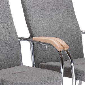 Konferencinė kėdė Loco II metalinėmis kojomis.