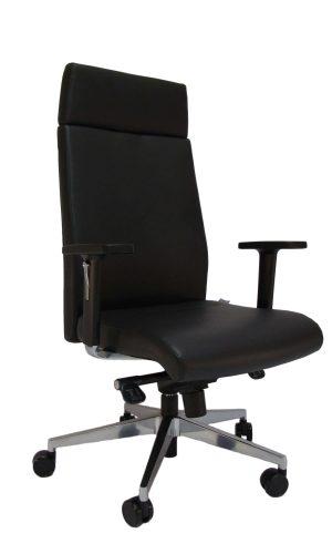 Natūralios odos ergonominė kėdė Milton HB LE su atrama galvai.
