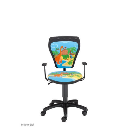 Vaikiška kėdė Ministyle GTP Dino su ratukais.