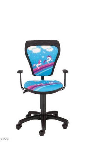 Vaikiška kėdė Ministyle GTP Poni su ratukais.