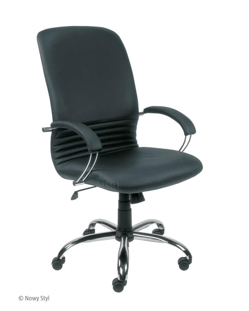 Vadovo kėdė Mirage steel chrome su stabiliais porankiais.