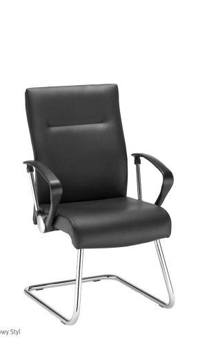 Lankytojų kėdė Neo Lux cfp lb chrome ant lenktos kojos.
