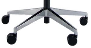Ergonominė kėdė Newport HRU LE su poliruoto aliuminio pagrindu.