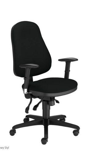 Ergonominė kėdė Offix R15G-3 ts 16 su gobelo aptrauktais atlošu ir sėdyne.