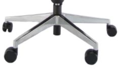 Ergonominė kėdė Opus su poliruoto aliuminio pagrindu.