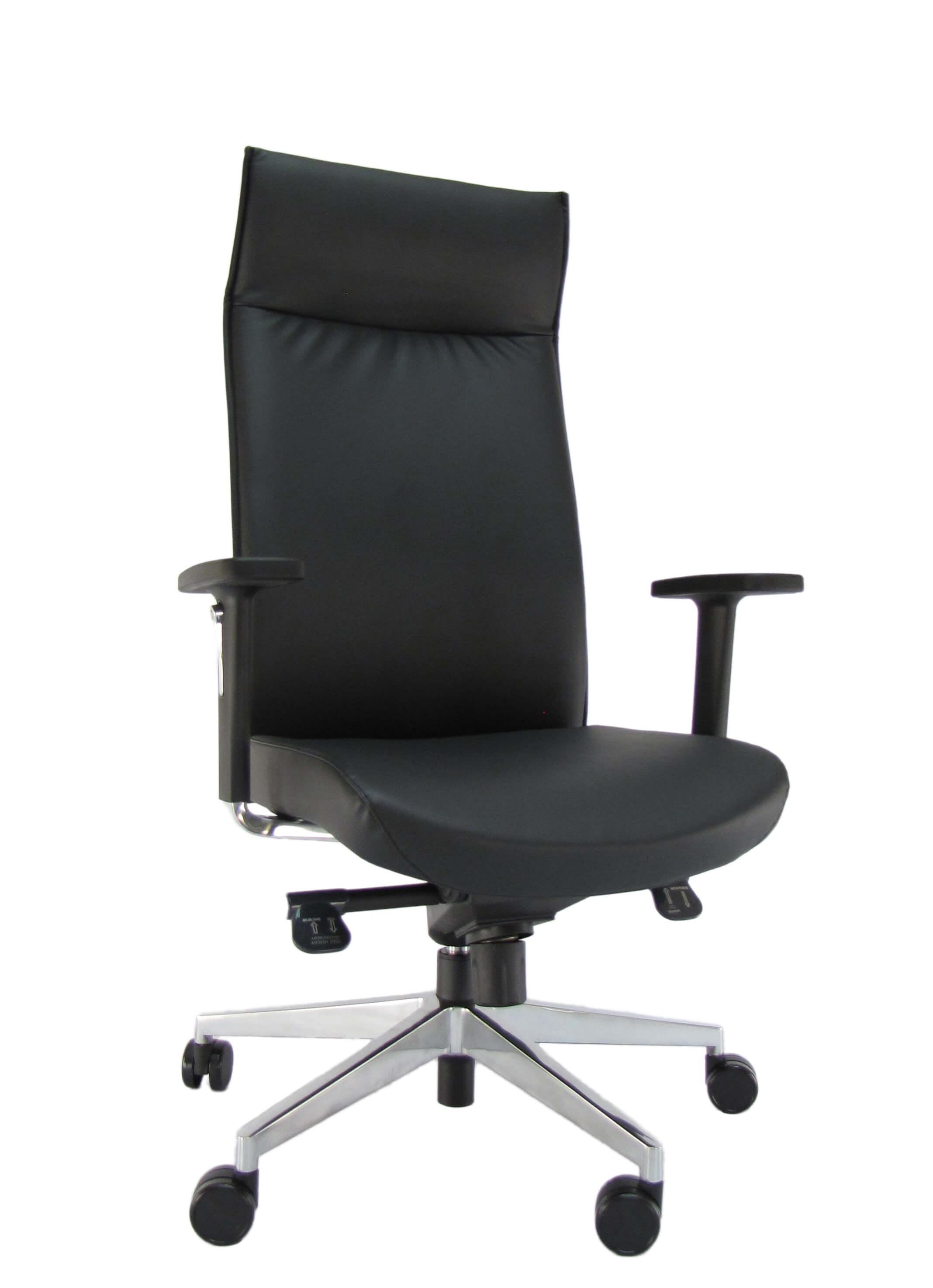 Ergonominė kėdė Opus HB su kokybiška eko oda aptrauktais atlošu bei sėdyne.