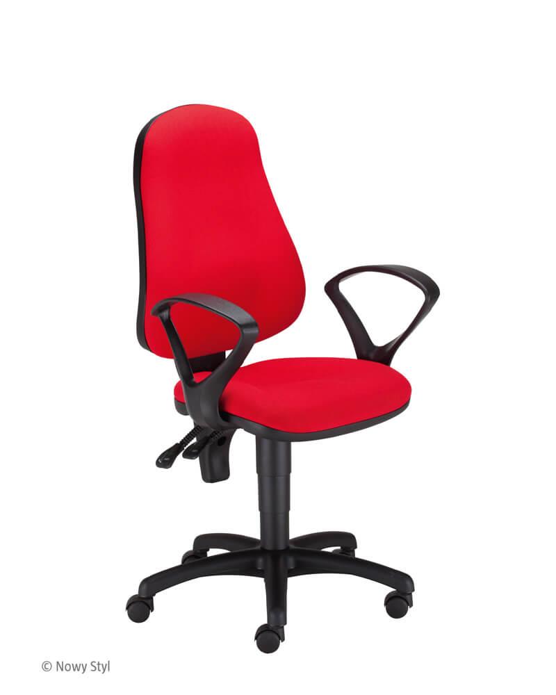 Ergonominė kėdė Punkt ergo GTP47 su kokybišku gobelenu aptrauktais sėdyne ir atlošu.