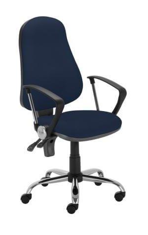 Ergonominė kėdė Punkt ergo steel GTP9 su gobelenu aptrauktais sėdyne ir atlošu.