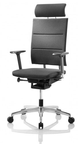 Ergonominė Sail GT8 tvirta natūralios odos ar kokybiško audinio vadovo kėdė.