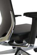 Aukšto atlošo, solidi, natūralios odos ergonominė kėdė Sanremo LE.