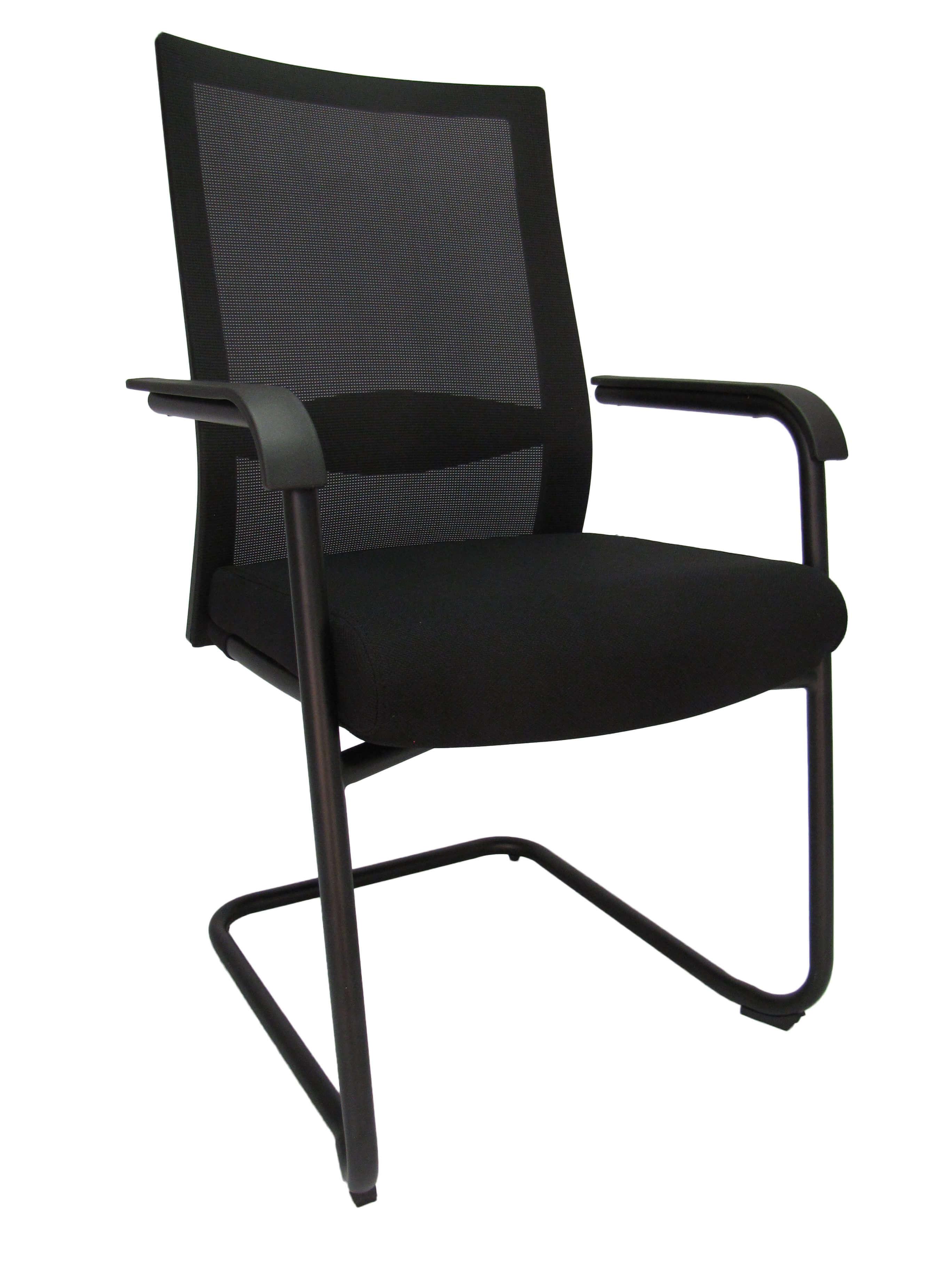 Konferencinė kėdė Tango su tinklelio atlošu ir minkštai apmušta sėdyne.