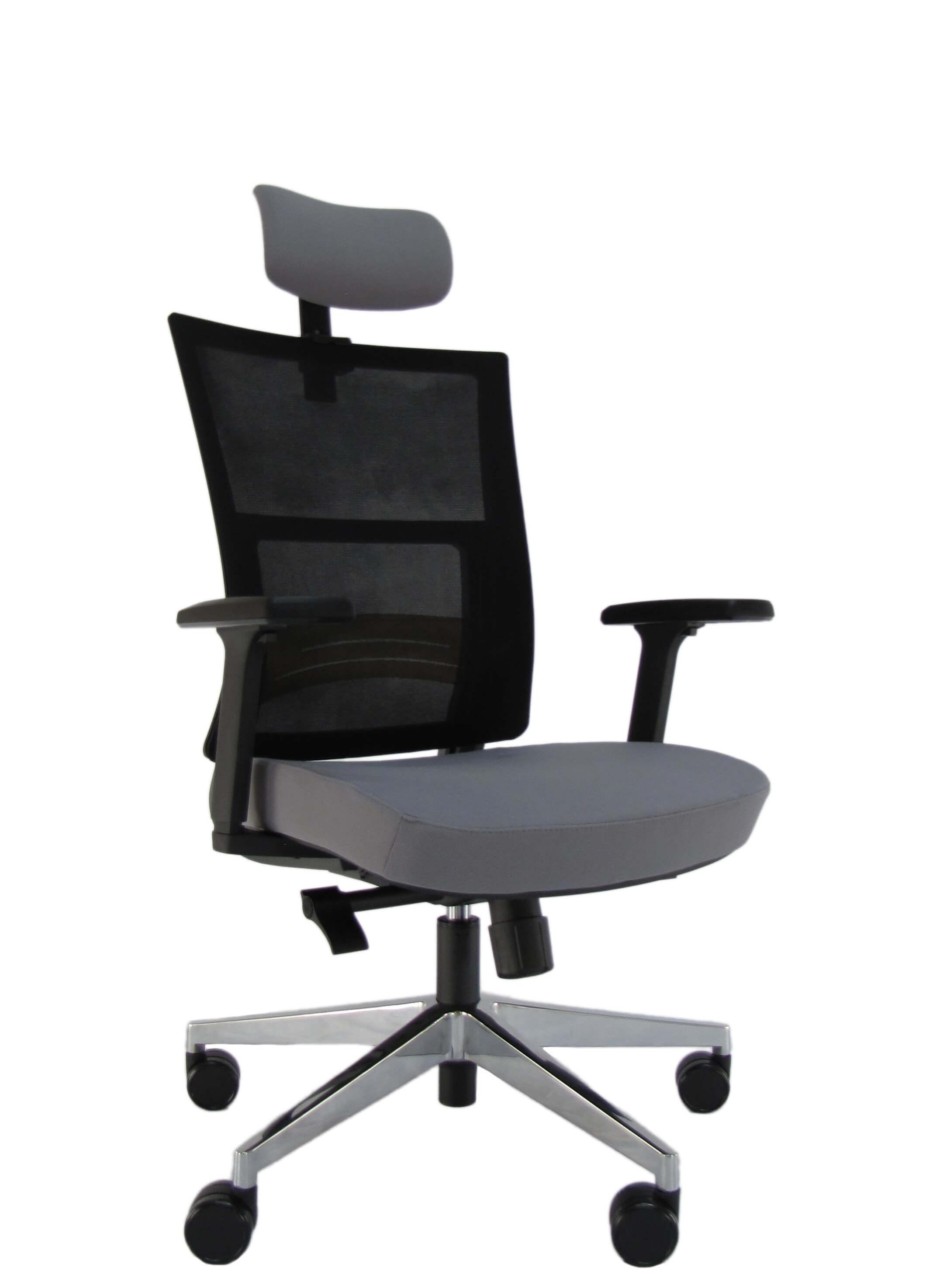 Ergonominė kėdė Velum HRU su tvirto tinkliuko atlošu, kokybišku audiniu aptraukta sėdyne.