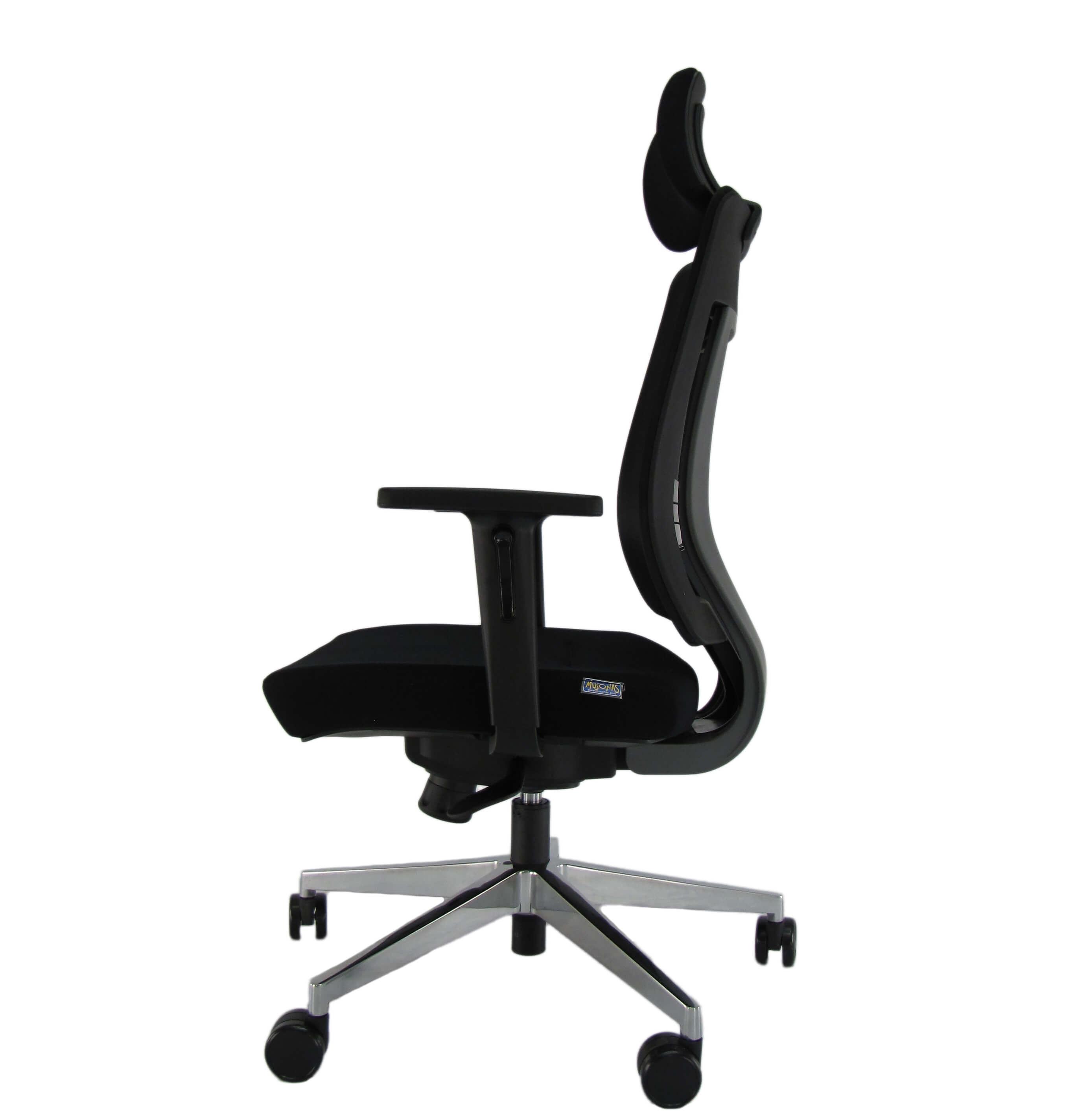 Ergonominė kėdė Waxholm HRU su tvirto tinkliuko atlošu, kokybišku audiniu aptraukta sėdyne.