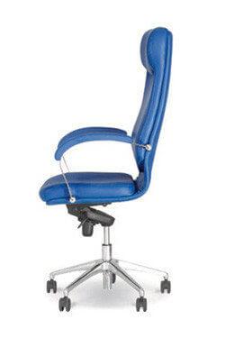 Vadovo kėdė Vega steel chrome su stabiliais porankiais.