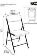 Sulankstoma kėdė Life Time yra su tvirta metaline konstrukcija.