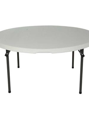 Tvirtos metalinės konstrukcijos banketinis sudedamas stalas LifeTime F152 cm.