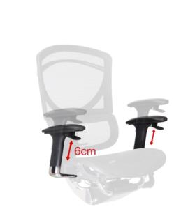 Biuro kėdės reguliuojami porankiai.