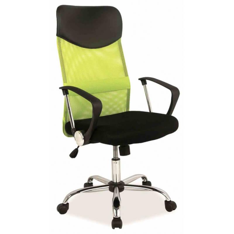 Biuro kėdė W-03 su tinklelio atlošu, plačia sėdyne ir ratukais.