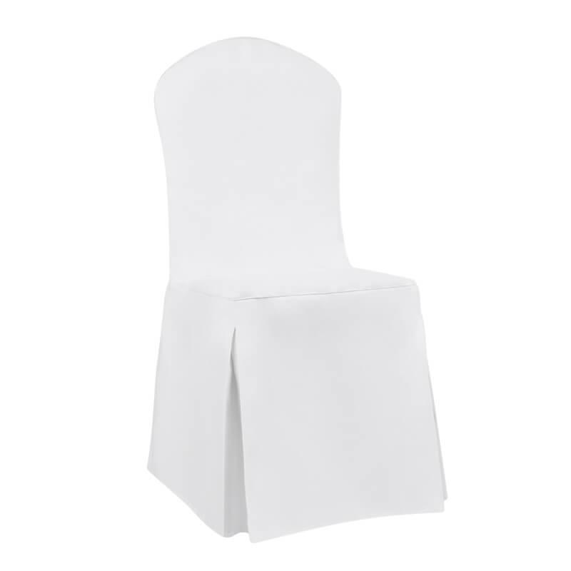 Apvelkamas kėdės užvalkalas su dekoratyviniu kaspinu.